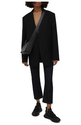 Женские комбинированные кроссовки jago TOM FORD черного цвета, арт. W2818N-T0F004 | Фото 2 (Материал внутренний: Натуральная кожа, Текстиль; Материал внешний: Текстиль; Подошва: Платформа)