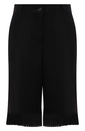 Женские шерстяные шорты BURBERRY черного цвета, арт. 8046913 | Фото 1 (Материал подклада: Купро; Материал внешний: Шерсть; Длина Ж (юбки, платья, шорты): Миди; Женское Кросс-КТ: Шорты-одежда; Кросс-КТ: Широкие; Стили: Кэжуэл)
