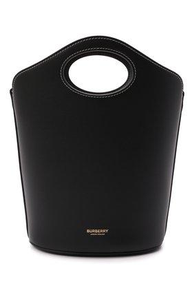 Женская сумка pocket BURBERRY черного цвета, арт. 8046240 | Фото 1 (Размер: small; Материал: Натуральная кожа; Ремень/цепочка: На ремешке; Сумки-технические: Сумки top-handle, Сумки через плечо)