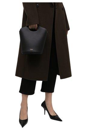 Женская сумка pocket BURBERRY черного цвета, арт. 8046240 | Фото 2 (Размер: small; Материал: Натуральная кожа; Ремень/цепочка: На ремешке; Сумки-технические: Сумки top-handle, Сумки через плечо)