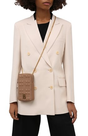 Женская сумка lola mini BURBERRY бежевого цвета, арт. 8044301 | Фото 2 (Материал: Натуральная кожа; Ремень/цепочка: На ремешке; Размер: mini; Сумки-технические: Сумки через плечо)