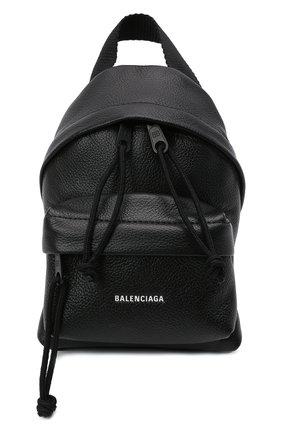 Женский рюкзак explorer BALENCIAGA черного цвета, арт. 656060/2UQXX | Фото 1 (Размер: mini; Материал: Натуральная кожа; Ремень/цепочка: На ремешке; Стили: Кэжуэл)