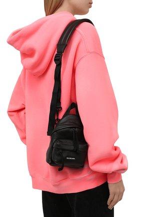 Женский рюкзак explorer BALENCIAGA черного цвета, арт. 656060/2UQXX | Фото 2 (Размер: mini; Материал: Натуральная кожа; Ремень/цепочка: На ремешке; Стили: Кэжуэл)
