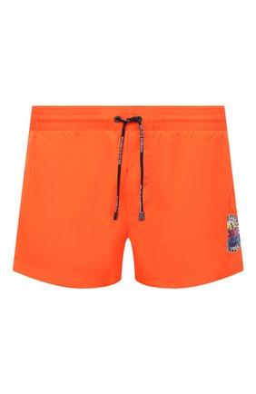 Мужские плавки-шорты DOLCE & GABBANA оранжевого цвета, арт. M4B18T/HUMLB | Фото 1 (Материал внешний: Синтетический материал; Мужское Кросс-КТ: плавки-шорты; Принт: С принтом)