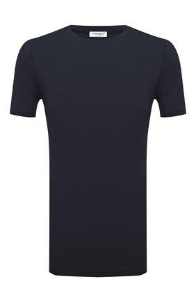 Мужская футболка ZIMMERLI темно-синего цвета, арт. 700-1341 | Фото 1 (Материал внешний: Синтетический материал; Кросс-КТ: домашняя одежда)