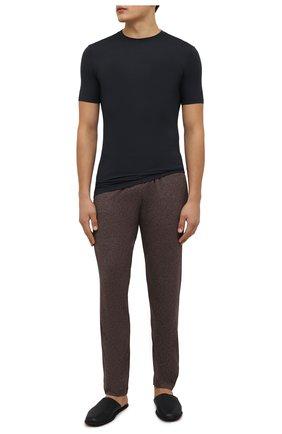 Мужская футболка ZIMMERLI темно-синего цвета, арт. 700-1341 | Фото 2 (Материал внешний: Синтетический материал; Кросс-КТ: домашняя одежда)