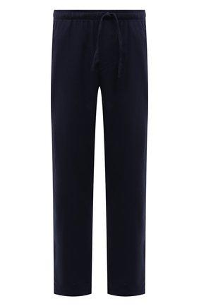 Мужские домашние брюки из хлопка и шерсти ZIMMERLI темно-синего цвета, арт. 4600-75180 | Фото 1 (Материал внешний: Хлопок; Кросс-КТ: домашняя одежда)