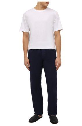 Мужские домашние брюки из хлопка и шерсти ZIMMERLI темно-синего цвета, арт. 4600-75180 | Фото 2 (Материал внешний: Хлопок; Кросс-КТ: домашняя одежда)
