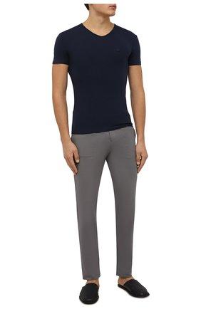 Мужские брюки ZIMMERLI темно-серого цвета, арт. 1343-21903 | Фото 2 (Материал внешний: Синтетический материал; Кросс-КТ: домашняя одежда)