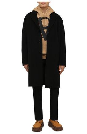 Мужские кожаные ботинки mon corp MONCLER бежевого цвета, арт. G2-09A-4F710-00-02SY1 | Фото 2 (Материал внутренний: Натуральная кожа; Мужское Кросс-КТ: Ботинки-обувь; Каблук высота: Высокий; Подошва: Массивная)