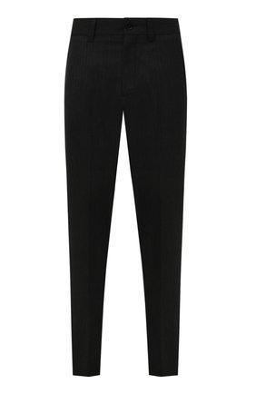 Мужские шерстяные брюки BURBERRY темно-серого цвета, арт. 8046203   Фото 1 (Материал внешний: Шерсть; Длина (брюки, джинсы): Стандартные; Случай: Формальный; Стили: Классический)