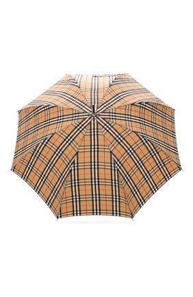 Мужской зонт-трость BURBERRY бежевого цвета, арт. 8025464 | Фото 1 (Материал: Металл, Текстиль, Синтетический материал)