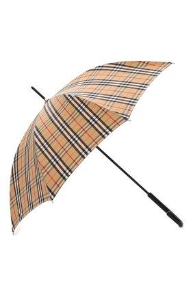 Мужской зонт-трость BURBERRY бежевого цвета, арт. 8025464 | Фото 2 (Материал: Металл, Текстиль, Синтетический материал)