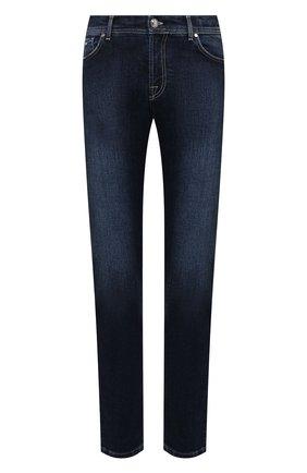 Мужские джинсы MARCO PESCAROLO синего цвета, арт. NERAN0M18/ZIP/44J12 | Фото 1 (Длина (брюки, джинсы): Стандартные; Материал внешний: Хлопок; Кросс-КТ: Деним; Детали: Потертости; Силуэт М (брюки): Прямые; Стили: Кэжуэл)