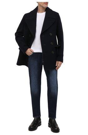 Мужские джинсы MARCO PESCAROLO синего цвета, арт. NERAN0M18/ZIP/44J12 | Фото 2 (Длина (брюки, джинсы): Стандартные; Материал внешний: Хлопок; Кросс-КТ: Деним; Детали: Потертости; Силуэт М (брюки): Прямые; Стили: Кэжуэл)