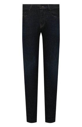 Мужские джинсы DIESEL темно-синего цвета, арт. A03469/09B45 | Фото 1 (Длина (брюки, джинсы): Стандартные; Материал внешний: Хлопок; Кросс-КТ: Деним; Детали: Потертости; Силуэт М (брюки): Прямые; Стили: Кэжуэл)