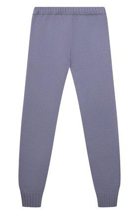 Детские кашемировые брюки GIORGETTI CASHMERE сиреневого цвета, арт. MB1809/N0 C0STE/8A-14A | Фото 1 (Материал внешний: Шерсть, Кашемир; Девочки Кросс-КТ: Брюки-одежда)