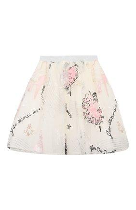 Детская юбка EIRENE белого цвета, арт. 212238 | Фото 1 (Материал внешний: Синтетический материал; Материал подклада: Хлопок; Случай: Повседневный)
