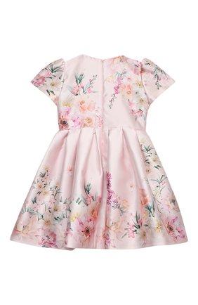 Детское платье EIRENE светло-розового цвета, арт. 212249 | Фото 2 (Рукава: Короткие; Материал подклада: Хлопок; Материал внешний: Синтетический материал; Случай: Вечерний)