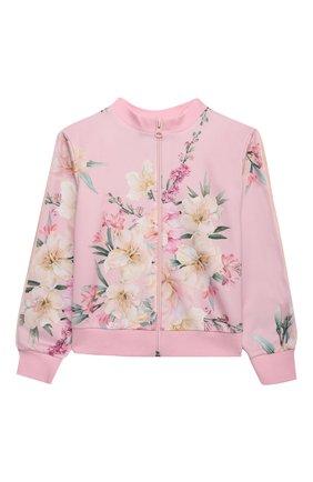 Детская комплект из толстовки и брюк EIRENE розового цвета, арт. 212260 | Фото 2 (Рукава: Длинные; Девочки Кросс-КТ: Костюмы-спорт)