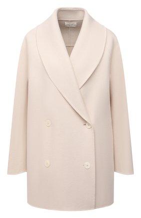 Женское пальто из шерсти и кашемира THE ROW светло-бежевого цвета, арт. 5887W1439 | Фото 1 (Рукава: Длинные; Длина (верхняя одежда): До середины бедра; Материал внешний: Шерсть)