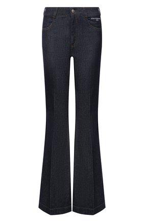 Женские джинсы STELLA MCCARTNEY синего цвета, арт. 372775/S0H58 | Фото 1 (Длина (брюки, джинсы): Удлиненные; Материал внешний: Хлопок; Стили: Гламурный; Кросс-КТ: Деним; Силуэт Ж (брюки и джинсы): Расклешенные)