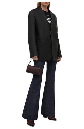 Женские джинсы STELLA MCCARTNEY синего цвета, арт. 372775/S0H58 | Фото 2 (Длина (брюки, джинсы): Удлиненные; Материал внешний: Хлопок; Стили: Гламурный; Кросс-КТ: Деним; Силуэт Ж (брюки и джинсы): Расклешенные)