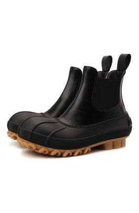 Женские комбинированные ботинки chain STELLA MCCARTNEY черного цвета, арт. 800424/N0131 | Фото 1 (Материал внутренний: Текстиль; Материал внешний: Экокожа, Текстиль; Каблук высота: Низкий; Подошва: Платформа; Каблук тип: Устойчивый; Женское Кросс-КТ: Челси-ботинки)