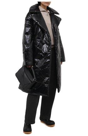 Женские комбинированные ботинки chain STELLA MCCARTNEY черного цвета, арт. 800424/N0131 | Фото 2 (Материал внутренний: Текстиль; Материал внешний: Экокожа, Текстиль; Каблук высота: Низкий; Подошва: Платформа; Каблук тип: Устойчивый; Женское Кросс-КТ: Челси-ботинки)
