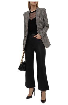 Женский пуловер из вискозы REDVALENTINO черного цвета, арт. WR0KC11C/670 | Фото 2 (Длина (для топов): Стандартные; Материал внешний: Вискоза; Рукава: Длинные; Стили: Гламурный; Женское Кросс-КТ: Пуловер-одежда)