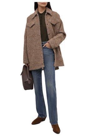 Женская шерстяная куртка ACNE STUDIOS кремвого цвета, арт. A90368   Фото 2 (Длина (верхняя одежда): До середины бедра; Материал подклада: Вискоза; Рукава: Длинные; Материал внешний: Шерсть; Стили: Кэжуэл; Кросс-КТ: Куртка)