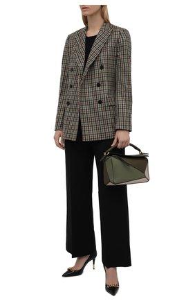 Женская хлопковый лонгслив JAMES PERSE черного цвета, арт. WEK3685   Фото 2 (Рукава: Длинные; Длина (для топов): Стандартные; Материал внешний: Хлопок; Стили: Кэжуэл; Принт: Без принта; Женское Кросс-КТ: Лонгслив-одежда)