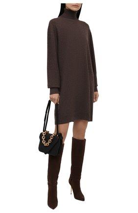 Женское кашемировое платье DRIES VAN NOTEN коричневого цвета, арт. 212-011244-3701 | Фото 2 (Материал внешний: Шерсть, Кашемир; Длина Ж (юбки, платья, шорты): Мини; Рукава: Длинные; Стили: Кэжуэл; Случай: Повседневный; Кросс-КТ: Трикотаж; Женское Кросс-КТ: Платье-одежда)