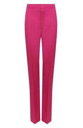 Женские шерстяные брюки ISABEL MARANT розового цвета, арт. PA1990-21H022I/LIR0KIA   Фото 1 (Длина (брюки, джинсы): Удлиненные; Материал внешний: Шерсть; Стили: Гламурный; Женское Кросс-КТ: Брюки-одежда; Силуэт Ж (брюки и джинсы): Прямые)