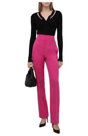 Женские шерстяные брюки ISABEL MARANT розового цвета, арт. PA1990-21H022I/LIR0KIA   Фото 2 (Длина (брюки, джинсы): Удлиненные; Материал внешний: Шерсть; Стили: Гламурный; Женское Кросс-КТ: Брюки-одежда; Силуэт Ж (брюки и джинсы): Прямые)
