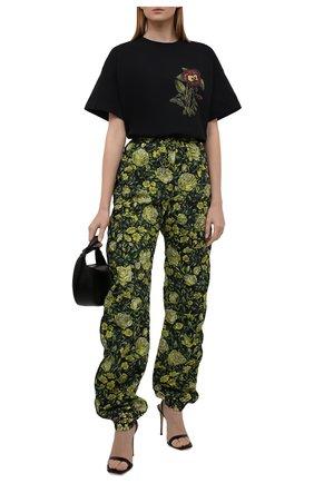 Женская хлопковая футболка KENZO черного цвета, арт. FB62TS6944SB | Фото 2 (Длина (для топов): Стандартные; Материал внешний: Хлопок; Рукава: Короткие; Стили: Спорт-шик; Принт: С принтом; Женское Кросс-КТ: Футболка-одежда)