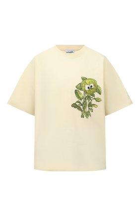 Женская хлопковая футболка KENZO разноцветного цвета, арт. FB62TS6944SB   Фото 1 (Материал внешний: Хлопок; Длина (для топов): Стандартные; Рукава: Короткие; Стили: Спорт-шик; Принт: С принтом; Женское Кросс-КТ: Футболка-одежда)