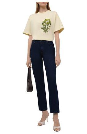 Женская хлопковая футболка KENZO разноцветного цвета, арт. FB62TS6944SB   Фото 2 (Материал внешний: Хлопок; Длина (для топов): Стандартные; Рукава: Короткие; Стили: Спорт-шик; Принт: С принтом; Женское Кросс-КТ: Футболка-одежда)