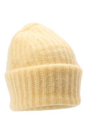 Женская шапка TAK.ORI желтого цвета, арт. AC043MW018PF17 | Фото 1 (Материал: Текстиль, Шерсть, Синтетический материал)