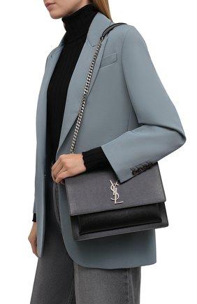 Женская сумка sunset large SAINT LAURENT черного цвета, арт. 498779/H3Z0N | Фото 2 (Размер: large; Материал: Натуральная кожа; Сумки-технические: Сумки через плечо)