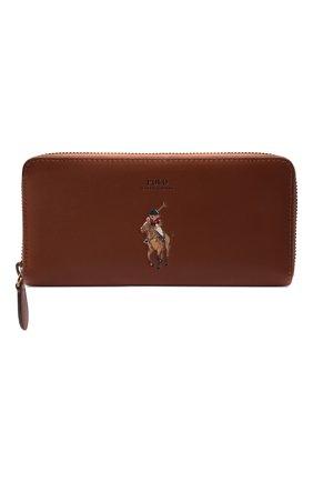 Женские кожаное портмоне POLO RALPH LAUREN коричневого цвета, арт. 427848879 | Фото 1