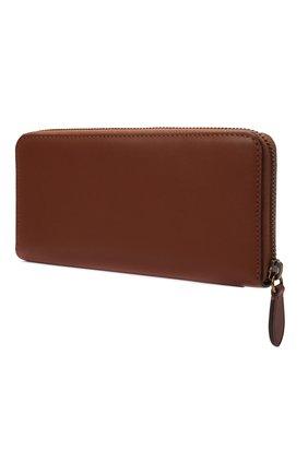 Женские кожаное портмоне POLO RALPH LAUREN коричневого цвета, арт. 427848879 | Фото 2
