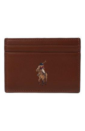 Женский кожаный футляр для кредитных карт POLO RALPH LAUREN коричневого цвета, арт. 427849318 | Фото 1