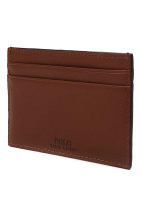Женский кожаный футляр для кредитных карт POLO RALPH LAUREN коричневого цвета, арт. 427849318 | Фото 2