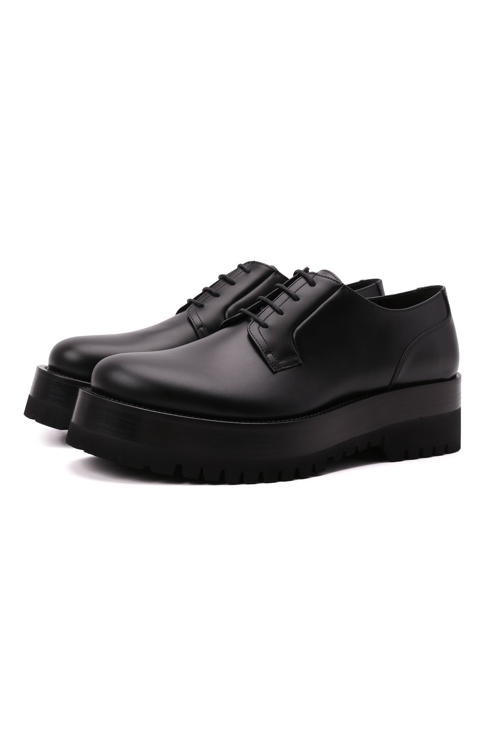 Мужские кожаные дерби upraise VALENTINO черного цвета, арт. WY0S0E80/LZP | Фото 1 (Материал внутренний: Натуральная кожа; Стили: Классический)
