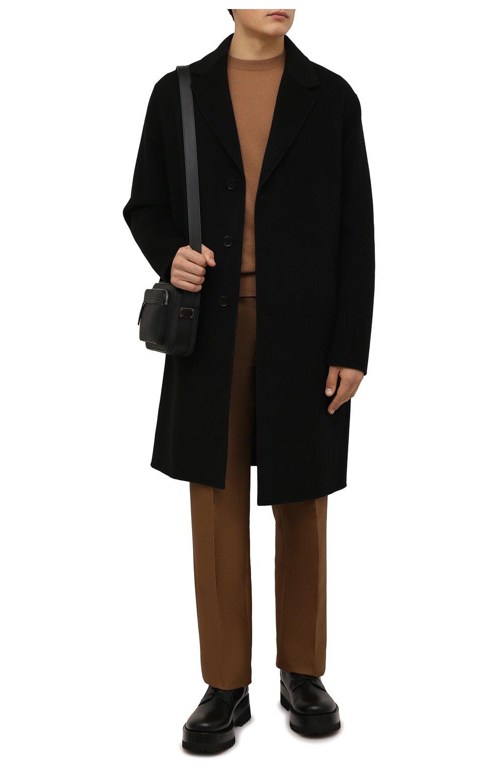 Мужские кожаные дерби upraise VALENTINO черного цвета, арт. WY0S0E80/LZP | Фото 2 (Материал внутренний: Натуральная кожа; Стили: Классический)