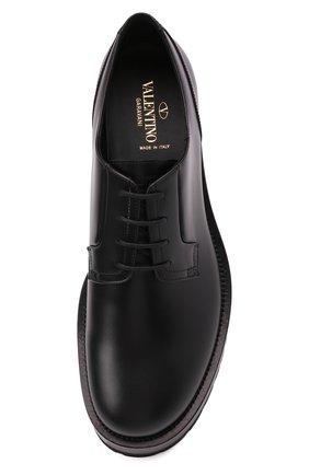 Мужские кожаные дерби upraise VALENTINO черного цвета, арт. WY0S0E80/LZP | Фото 5 (Материал внутренний: Натуральная кожа; Стили: Классический)