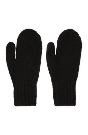 Мужские варежки из шерсти и кашемира ACNE STUDIOS черного цвета, арт. C80097/M | Фото 2 (Материал: Шерсть; Кросс-КТ: Трикотаж)