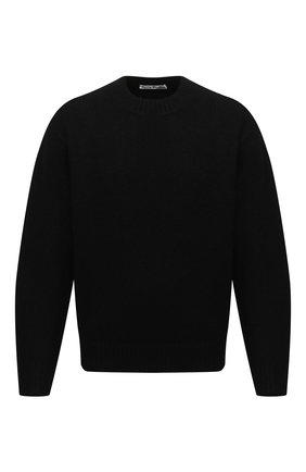 Мужской свитер из шерсти и кашемира ACNE STUDIOS черного цвета, арт. B60151   Фото 1 (Материал внешний: Шерсть; Мужское Кросс-КТ: Свитер-одежда; Принт: Без принта; Стили: Минимализм)