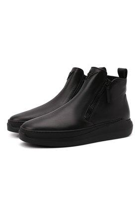 Мужские кожаные сапоги conley high GIUSEPPE ZANOTTI DESIGN черного цвета, арт. IU10022/005 | Фото 1 (Подошва: Массивная; Материал утеплителя: Натуральный мех; Мужское Кросс-КТ: Сапоги-обувь, зимние сапоги)